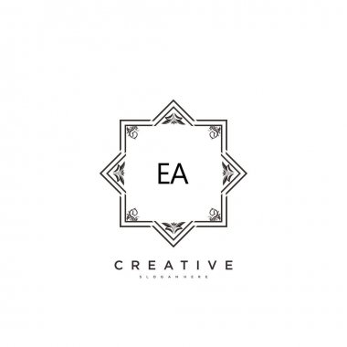 EA Beauty vector initial logo art, handwriting logo of initial signature, wedding, fashion, jewerly, boutique, floral and botanical with creative template for any company or business. icon