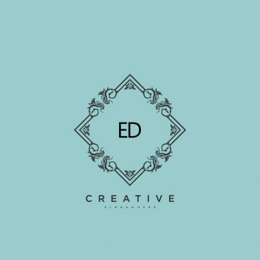 ED Beauty vector initial logo art, handwriting logo of initial signature, wedding, fashion, jewerly, boutique, floral and botanical with creative template for any company or business. icon