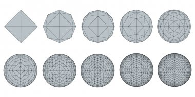 Set with spheres