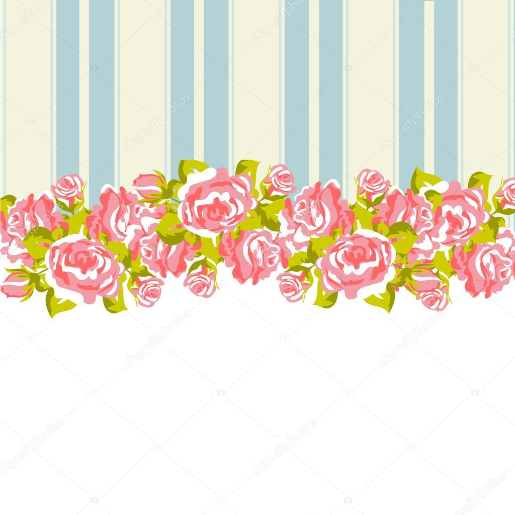 Shabby Chic Floral Pattern Background For Printing Paper Or Scrapbook Vector By ElenaBaryshkina