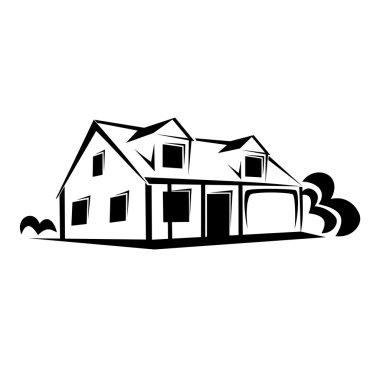 Real estate, house sketch