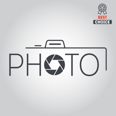 Logo, badge, emblem or label for photograph