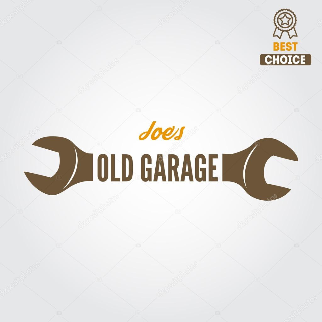 Logo Badge Embleem En Logo Element Voor Mechanic Garage Auto