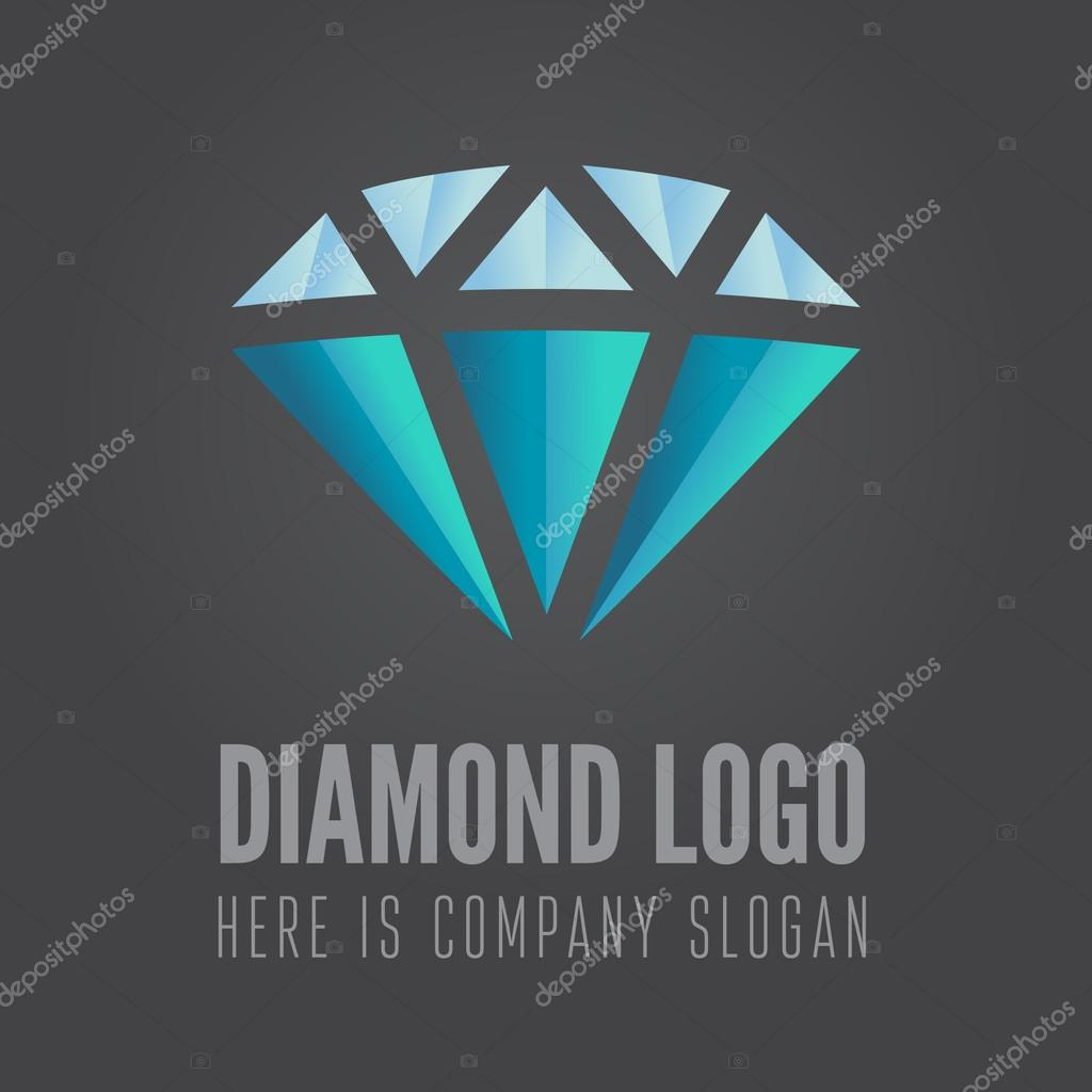 Logo Label Badge Emblem Or Logotype Element With Diamond For