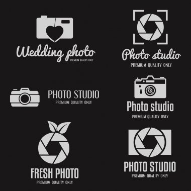 Set of vintage and modern logo, icon, emblem, label or logotype elements