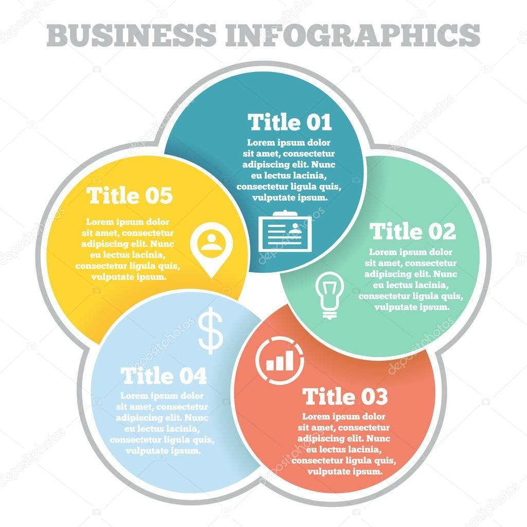 Business circle infographic diagram presentation four steps business circle infographic diagram presentation four steps vetores de stock ccuart Images