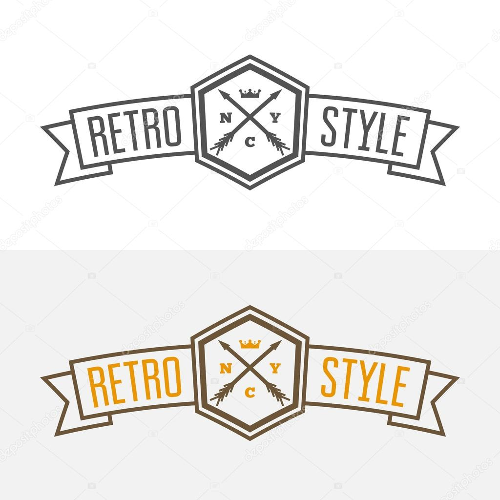 retro vintage insignia or logotype vector design element business