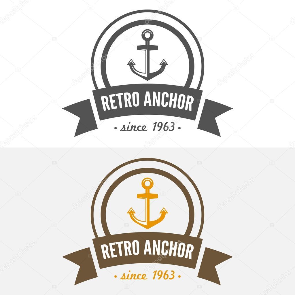 retro vintage insignia or logotype vector design element business
