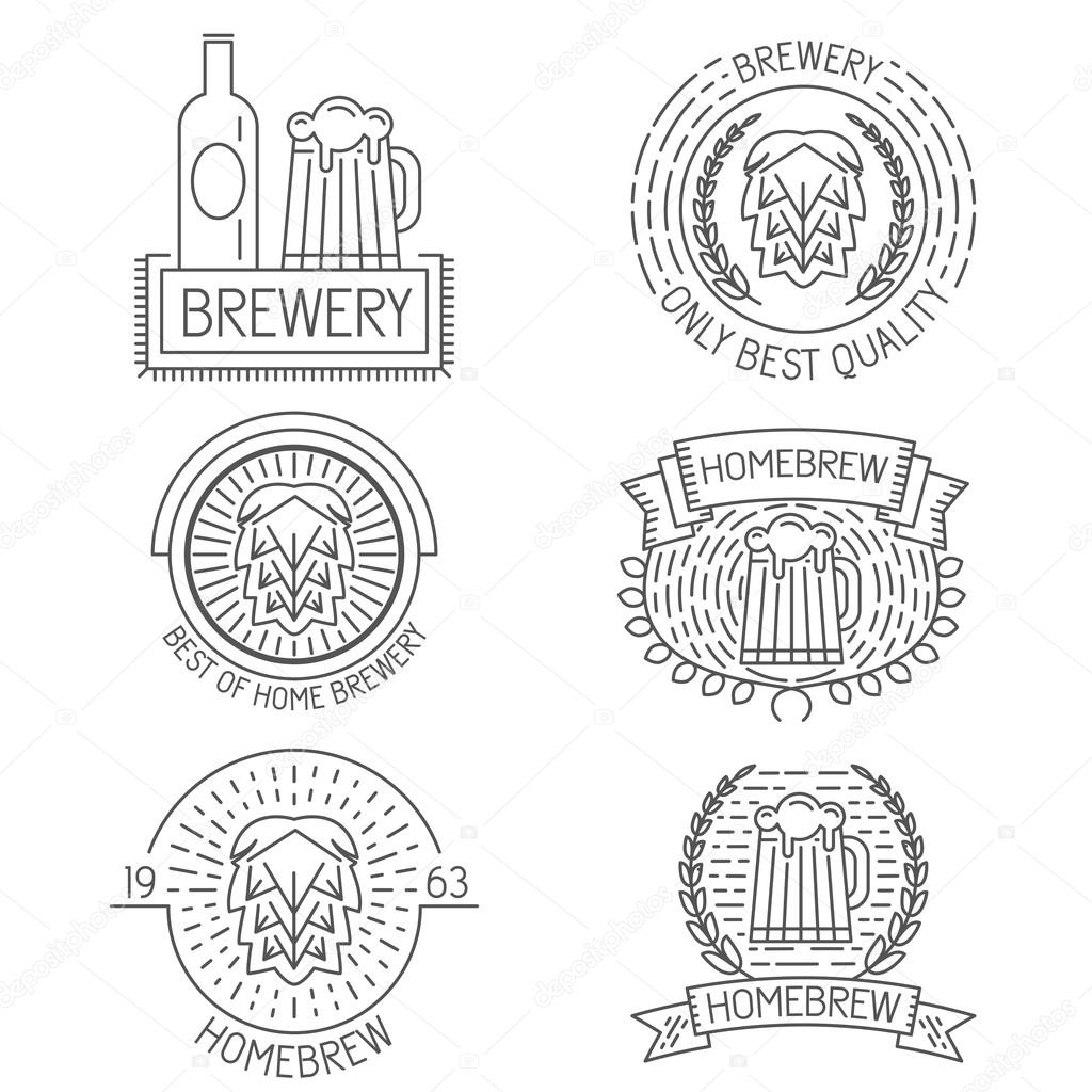 Conjunto de gafetes, etiquetas, elementos de diseño y plantillas de ...