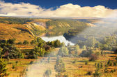 Fotografie Sommer landschaft fluss don in der waldsteppe zone russland rostov region