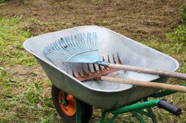 garden tools rakes trolley summer spring