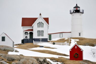 Cape Neddick Light with Snow on the Ground