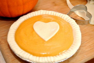 Preparing a Home Made Pumpkin Pie