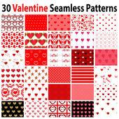 30 Valentine nahtlose Muster