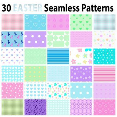 30 Easter  Seamless Patterns