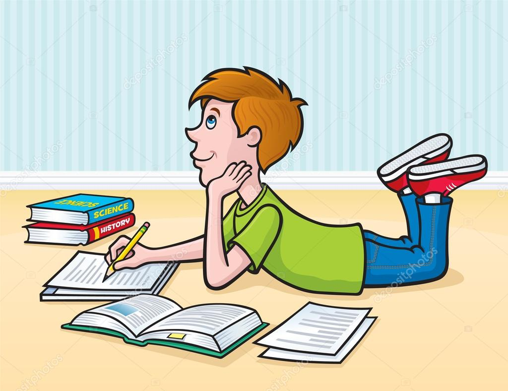doing homework en francais
