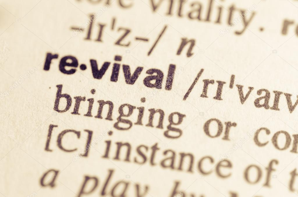 Dictionary definition of word revival — Stock Photo