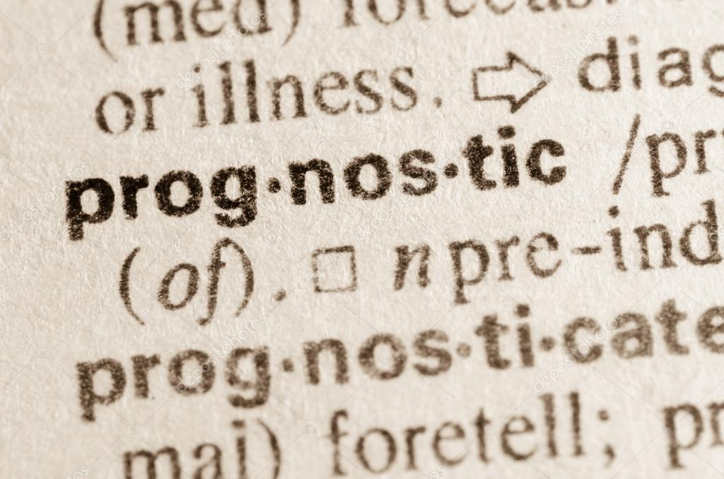Definition Of Word Prognostic In Dictionary U2014 Photo By Aga77ta