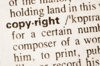 Dictionary definition of word copyright