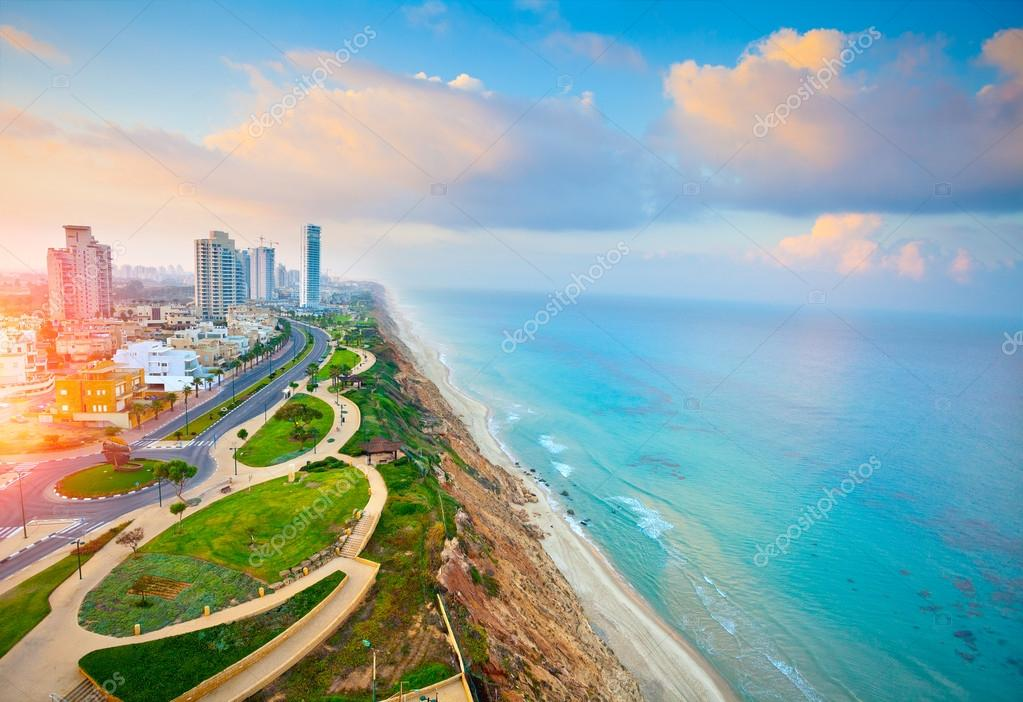 Netanya city aerial view