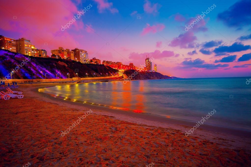 Netanya city at sunset, Israel