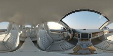 Spherical panorama saloon cars
