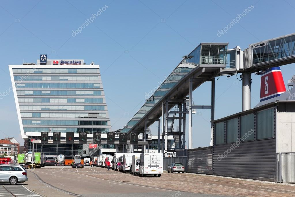 Stena line terminal on the harbor of Kiel, Germany – Stock Editorial