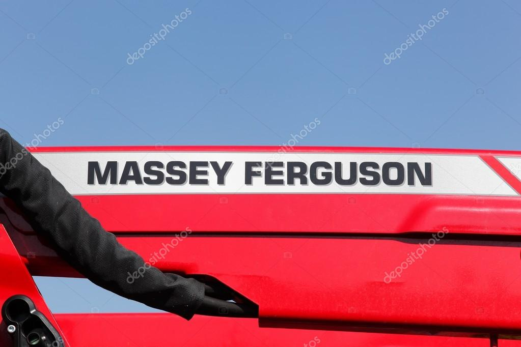 Massey Ferguson Logo On A Tractor Stock Editorial Photo