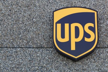 UPS logo on a facade