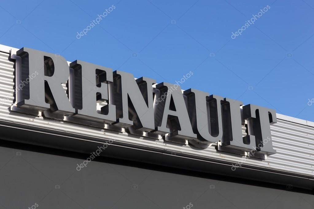 Signage at Renault car dealer's building