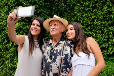 Grandfather and Granddaughters