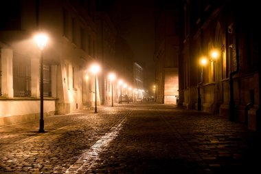 Krakow Cobbled Road