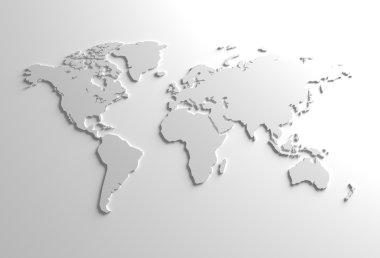 Global 3D Map Illustration