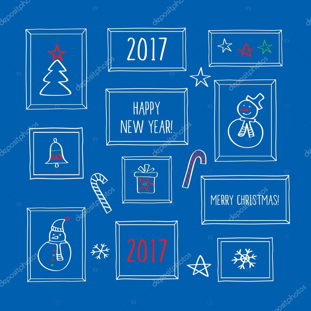 Frohes neues Jahr 2017 — Stockvektor © tkoko #113947704