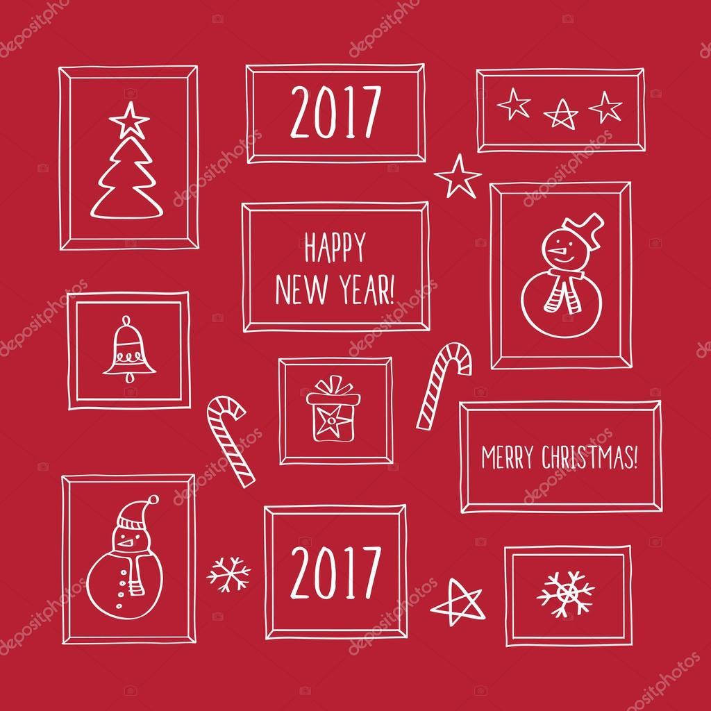 Frohes neues Jahr 2017 — Stockvektor © tkoko #113947826