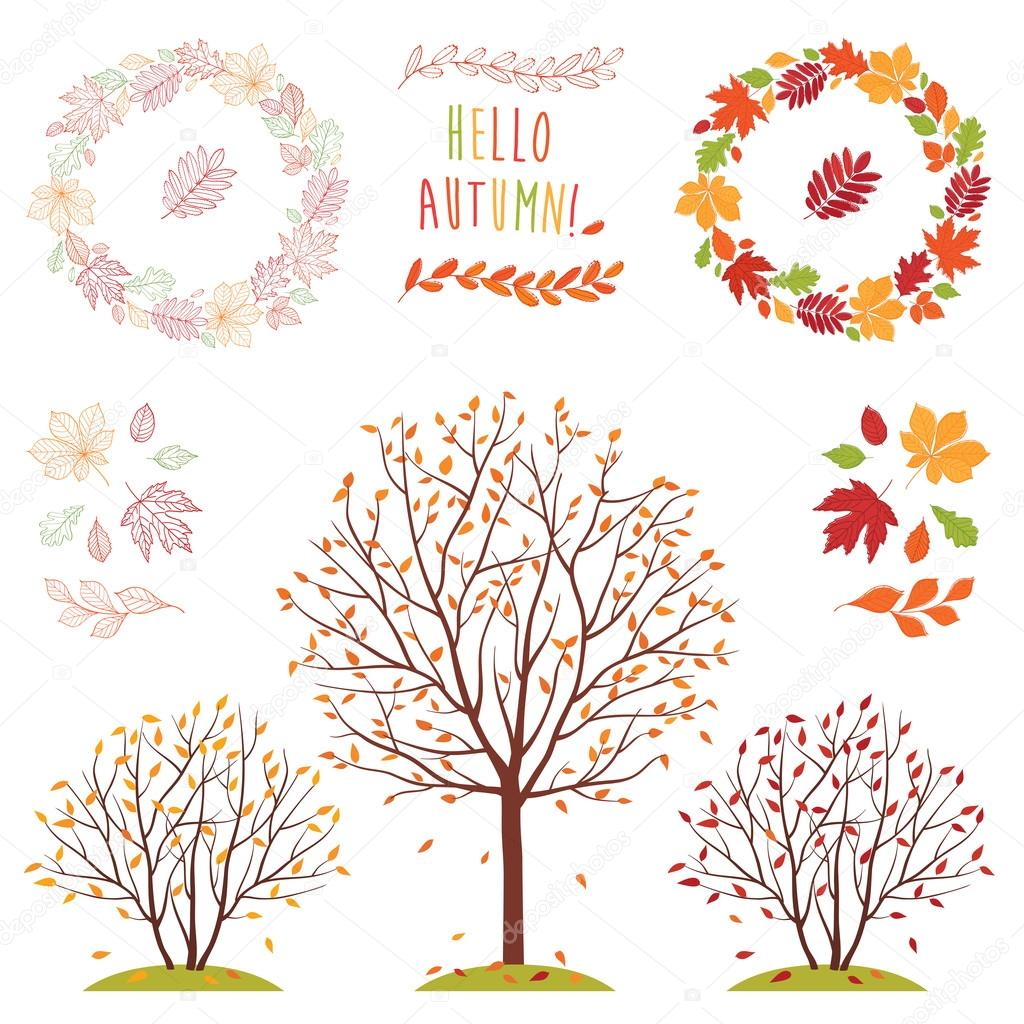 Wreathes of autumn leaves