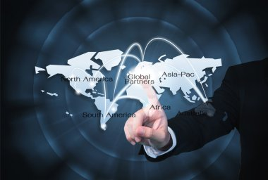 Global Partners Graphic use for import export background