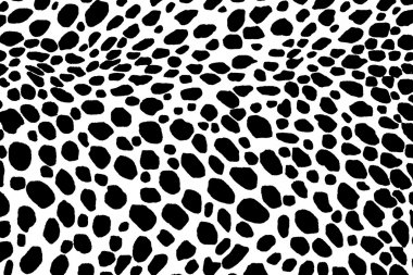 Dalmatian dog seamless pattern. Or cow skin texture.
