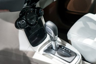 Car interior : Automatic transmission gear shift and air conditi