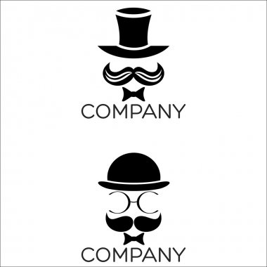 An example of a gentleman in a hat logo