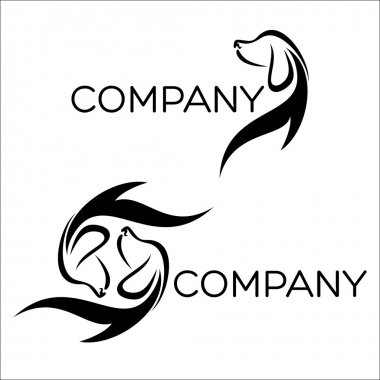 Example of dogs silhouette logo