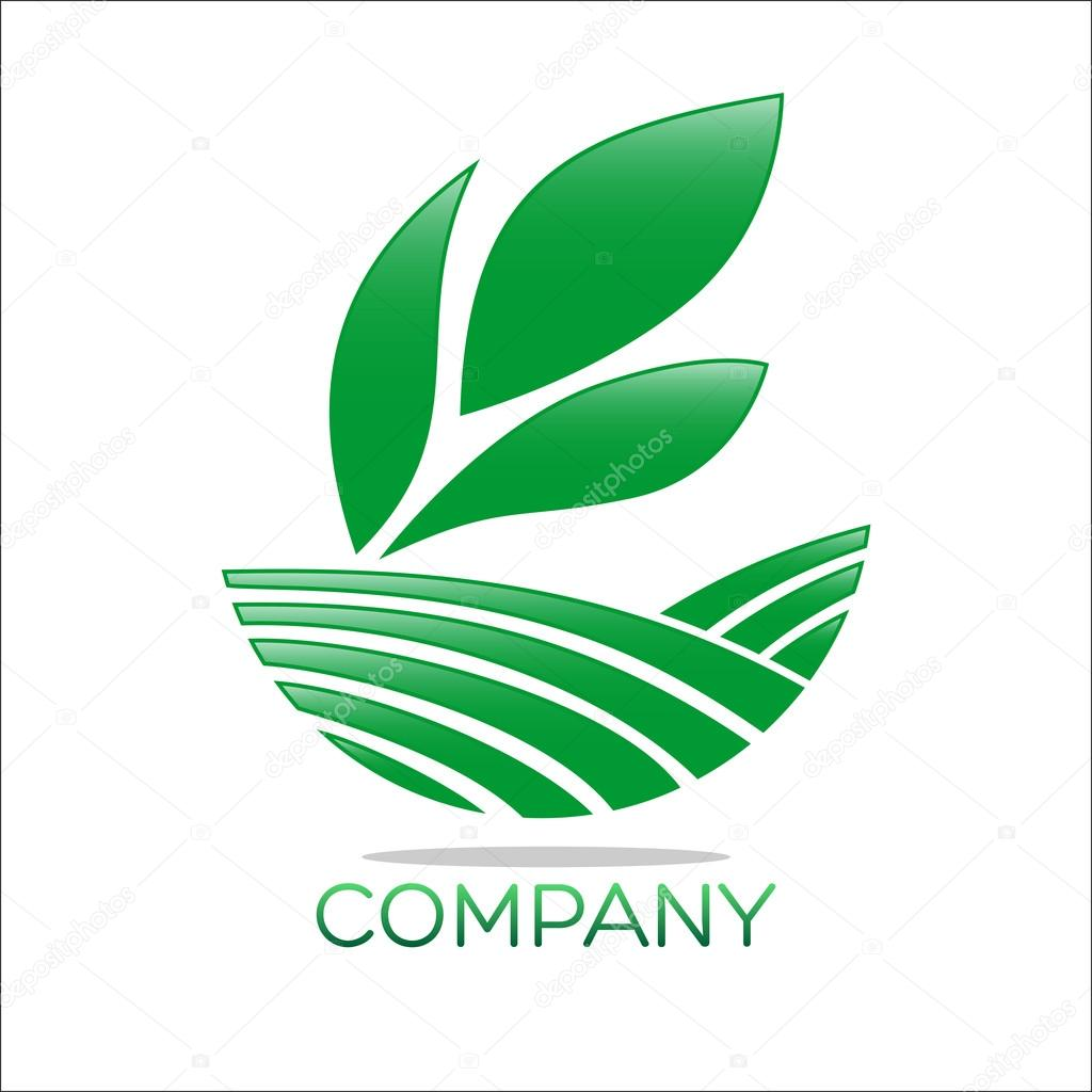 An example of abstraction and nature logo