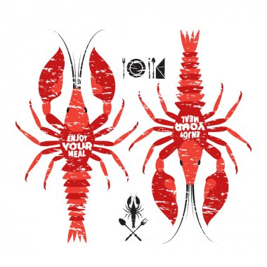 Two red crawfishes