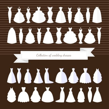 Different styles of wedding dresses