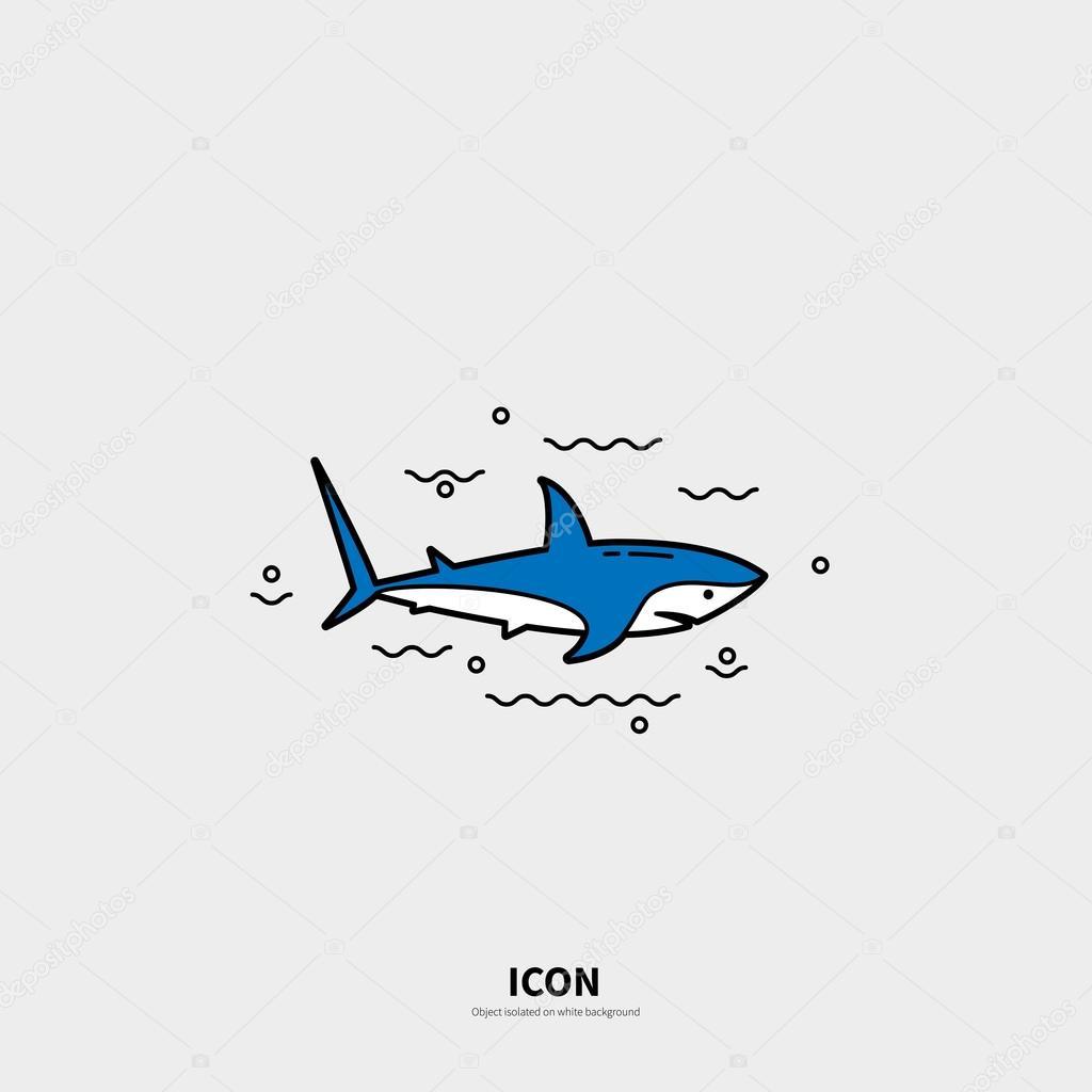 Logotype template with shark — Stock Vector © murr-ma #107152996