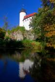 Fotografie Burg Rabenstein in Chmenitz, kleinste mittelalterliche Burg in Sachsen
