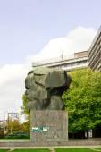 Fotografie Chemnitz, moderne Stadt in Sachsen, Karl Marx-Denkmal