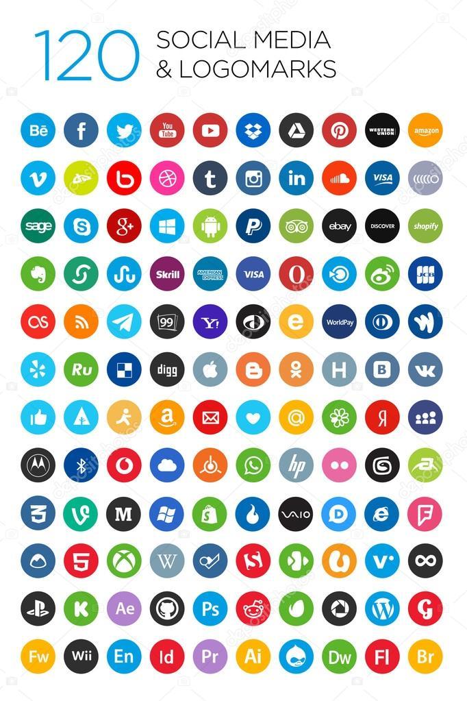 120 Social icons