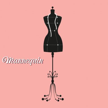 vector vintage tailors mannequin