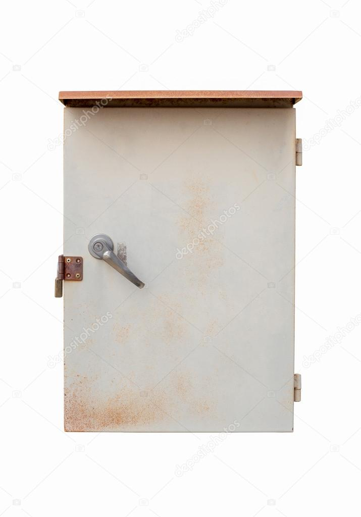 Old Outdoor Electric Box Panel Isolated On White Background With Clipping Path Photo By Ballykdy